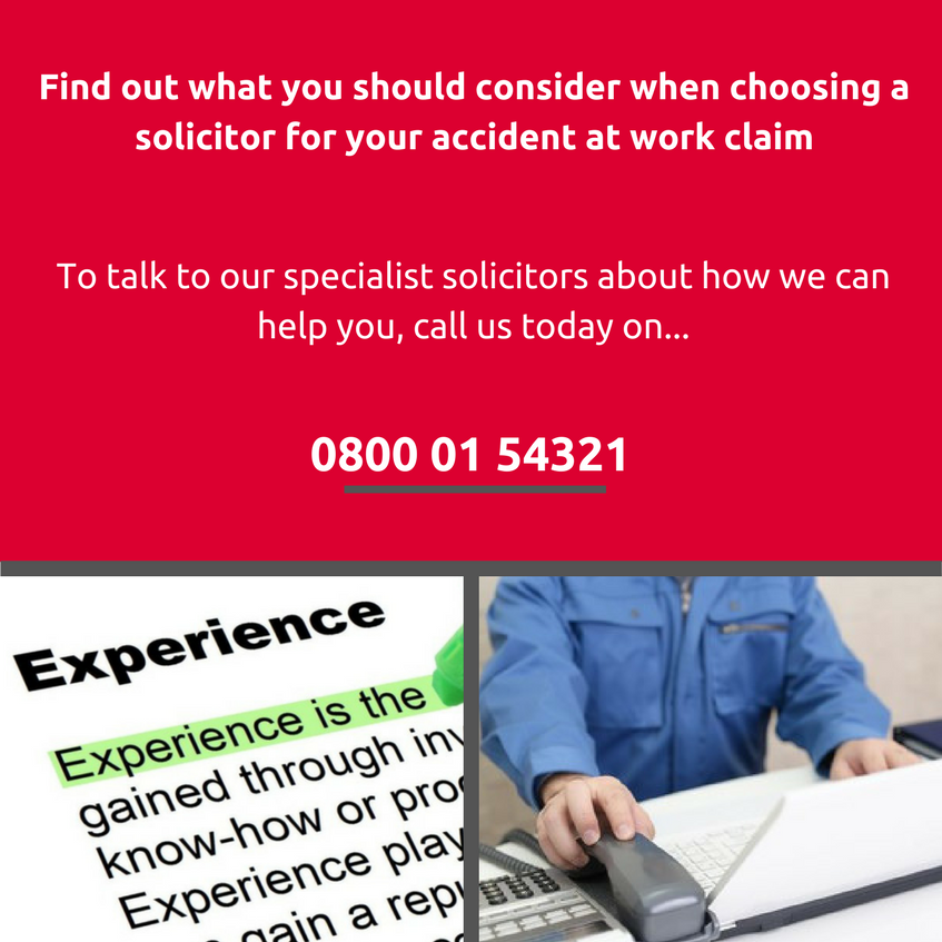 Choosing accident at work solicitor