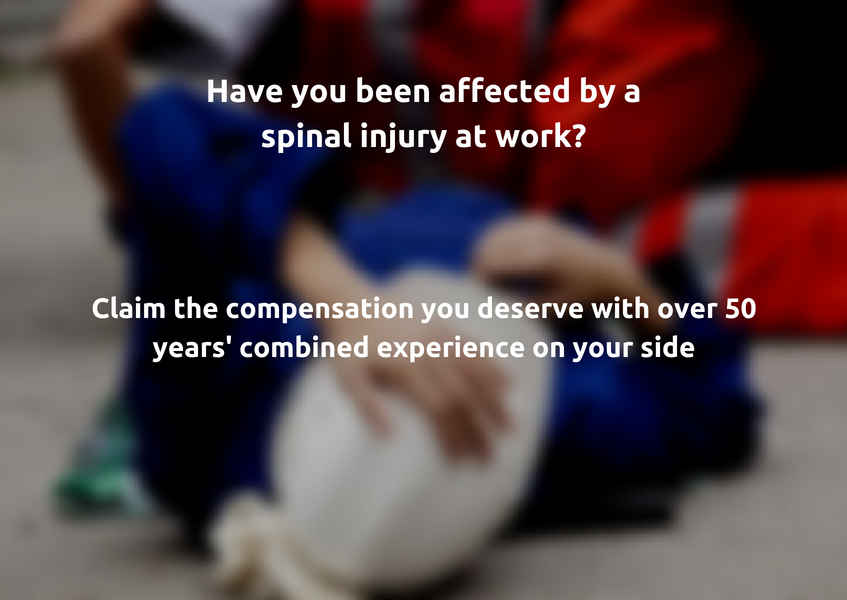 Spinal injury compensation claims advice