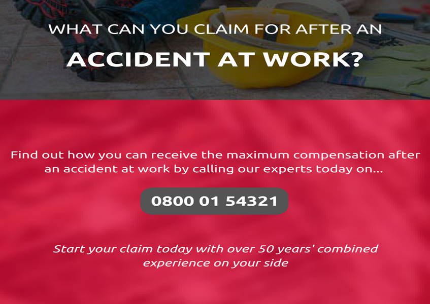 Claim the maximum compensation after an accident at work