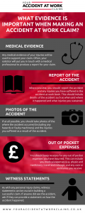 What evidence is important for accident at work claim
